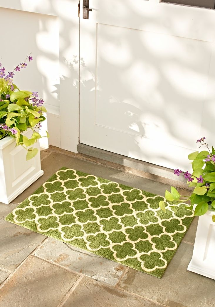 one tough beauty our framework mat of 100 natural coir welcomes your guests with - Grandin Road Catalog