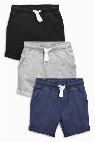 Black/Navy/Grey Shorts Three Pack (3mths-6yrs)
