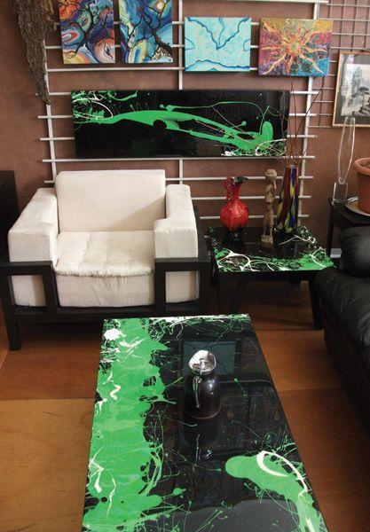 Artresin Furniture Quot Abstract Pour And Splatter Art And