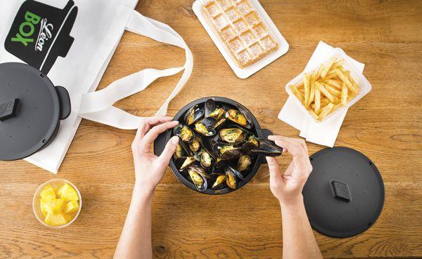 Léon Box, la cocote de moules frites à emporter #restaurant #gastronomie