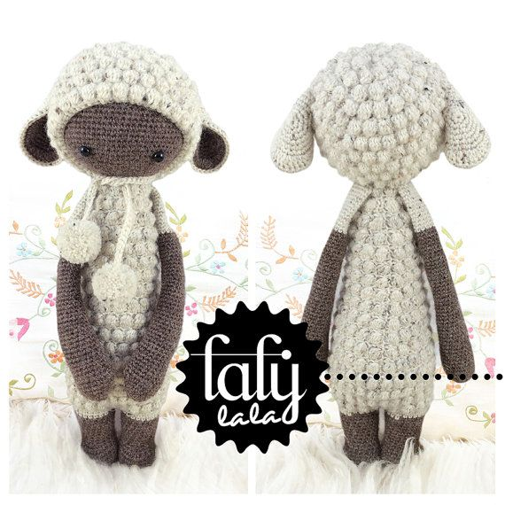LUPO the lamb / sheep  lalylala amigurumi crochet door lalylala