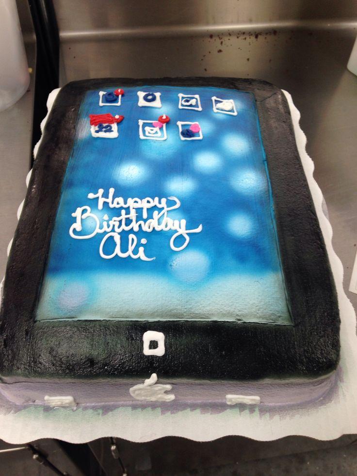 Custome Order Ipad Buttercream Cake Walmart Cake Cake
