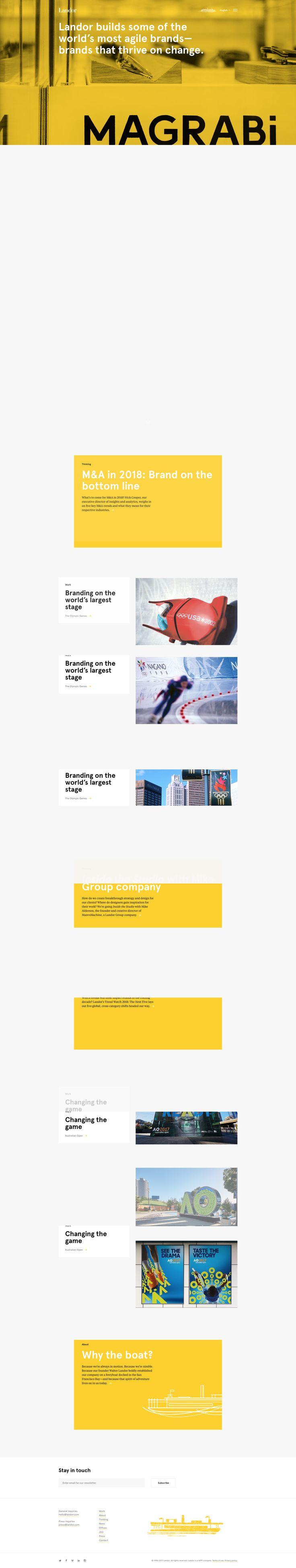 International branding agency site. Interesting scroll transition effect.
