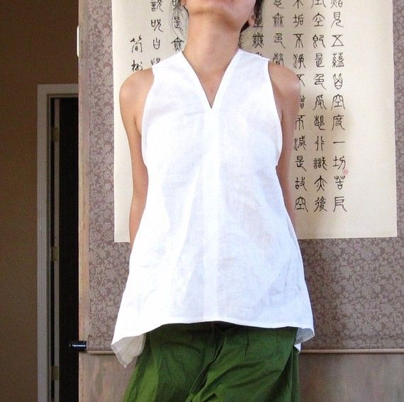line sparrow sleeveless top size XS to 6XL  *******************  material: mid weight linen made of natural flax free of pesticides  design: