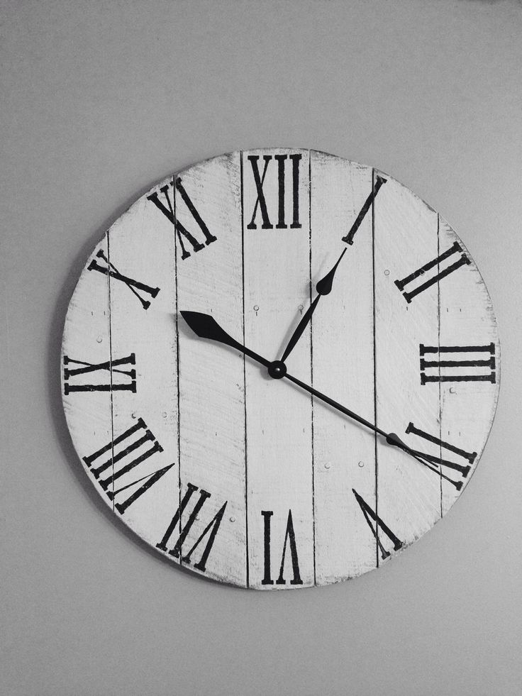Antique White Pallet Clock Wood Clock