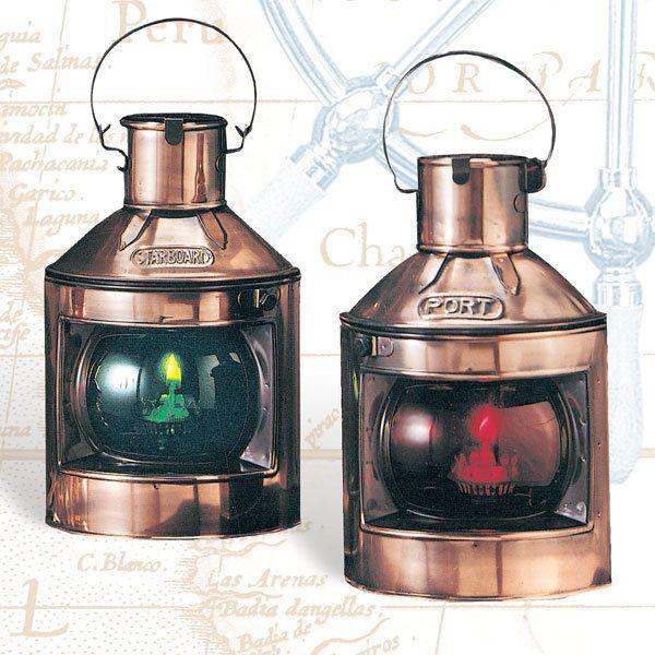Get Port & Starboard Nautical Oil Lanterns, & Brass Boat Lighting