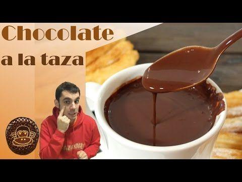 Chocolate a la taza, receta y vídeo detallado paso a paso. Sin gluten.