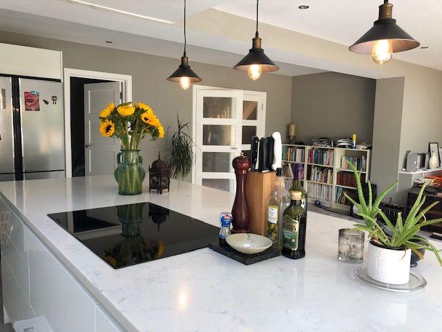 Summit Quarts Stone Worktop Porcelain Flooring Kitchen Inspiration Design Quartz Kitchen Quartz Worktops