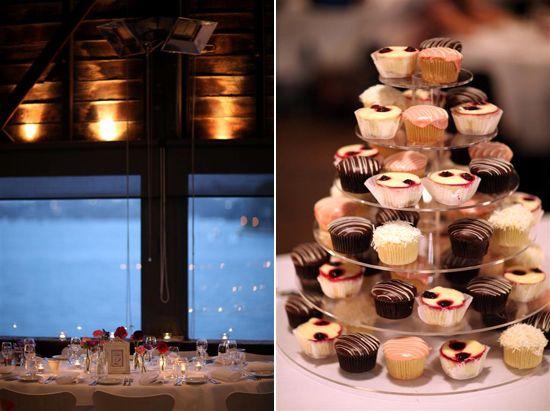 Misha and Craig's Modern Sydney Wedding - gourmet cupcake tower