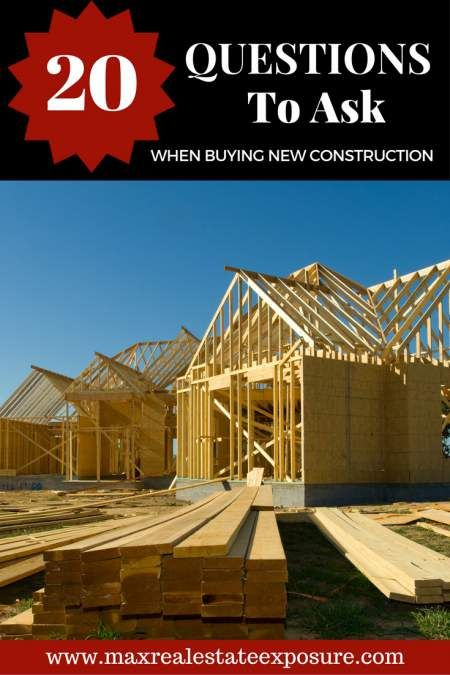 What are the most important questions to ask when buying new construction? Find out all the answers to these smart questions when buying a new home! http://www.maxrealestateexposure.com/questions-to-ask-buying-new-construction/