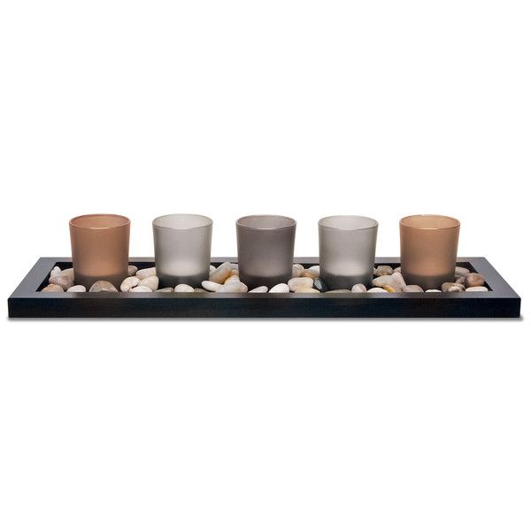 Apothecary Company 5-Piece Tealight Candle Set ($21) ❤ liked on Polyvore featuring home, home decor and candles & candleholders