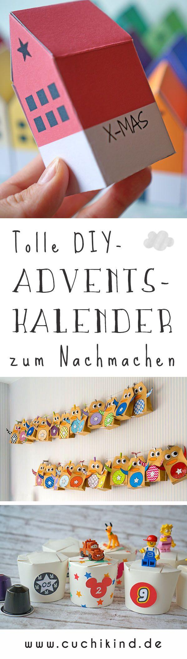 Tolle DIY-Adventskalender zum Nachbasteln. Pantone-Häuschen, Pinguine und Kalender aus Pappbechern. Mit Disney, Kaffee und Lego #adventskalender