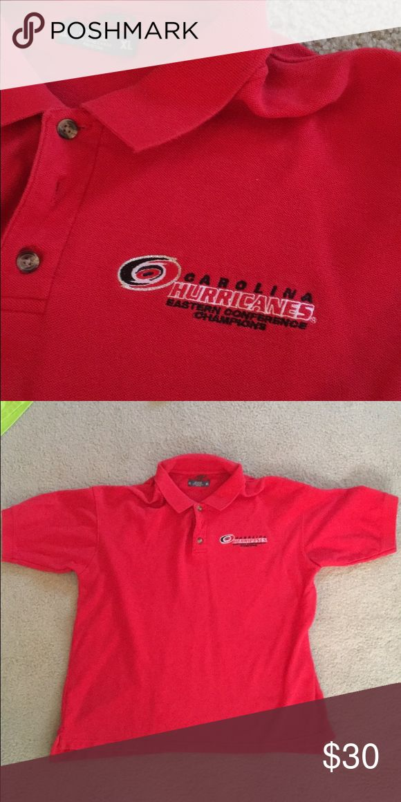 Carolina Hurricanes Conference Champs Polo Flashback to 2006 with this commemorative Carolina Hurricanes Polo Athletics Shirts Polos