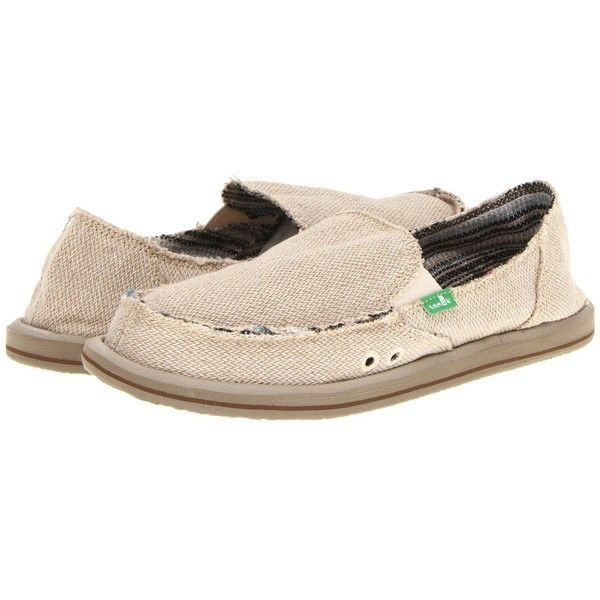 Sanuk Donna Hemp Women's Slip on Shoes ($55) ❤ liked on Polyvore featuring shoes, sanuk shoes, distressed shoes, patterned shoes, slipon shoes and herringbone shoes