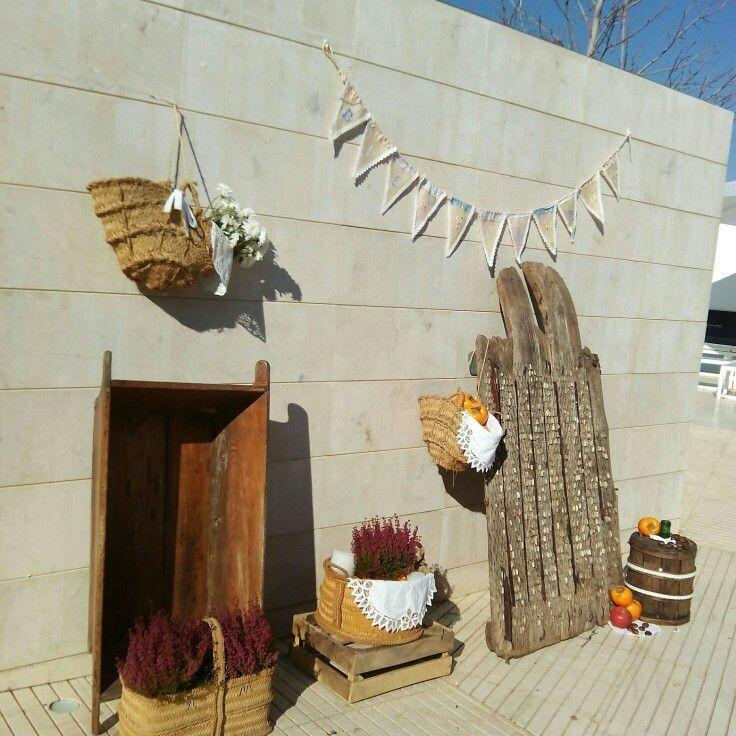 Bodegon de bienvenida de la boda de Estefania y Eduardo por La Casita de kelly