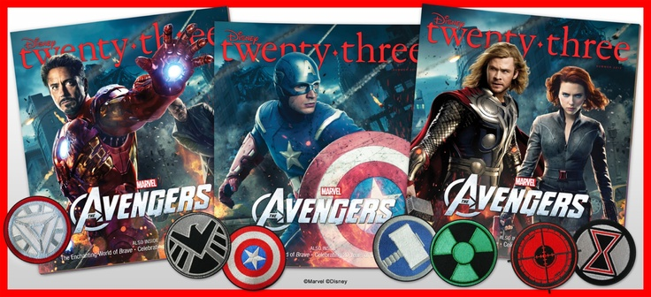 D23 ASEMBLES WITH THE #AVENGERS! amazing covers and free patches! via thequeenofswag.comTwentythr Magazines, Magazines Allnew, Three Collection, Summer Issues, Collection Covers, Allnew Summer, Avengers Assembly, All New Summer, D23 Magazines