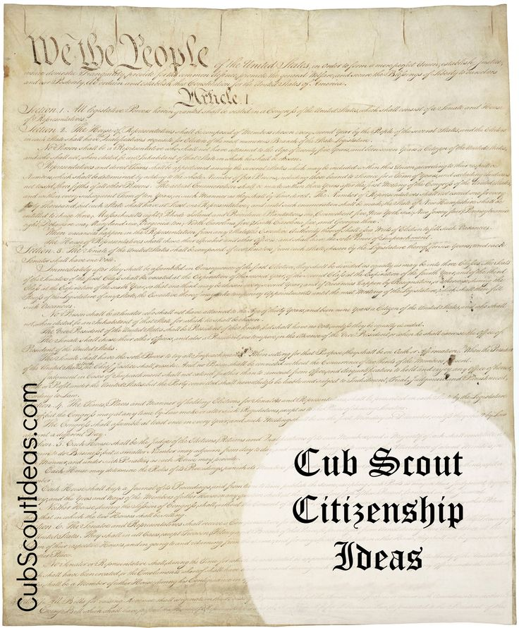 Add fun to your good citizenship Cub Scout discussion by using the Good Citizen boy!