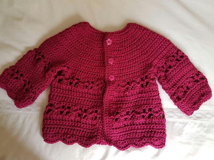 Chaleco tejido a crochet niña.