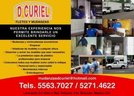 MUDANZAS ECONOMICAS EN LA CONDESA Y SANTA FE D.F. DCURIEL  TEL. 55637027 NUESTRA EXPERIENCIA NOS PERMITE BRINDARLE UN EXCELENTE SERVICIO DE MUDANZA A UN PRECIO ...  http://cuajimalpa.evisos.com.mx/mudanzas-en-polanco-y-santa-fe-df-dcuriel-id-527270