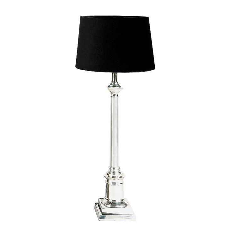 De Trendy Sfeerverlichting; Eichholtz Table Lamp  Cologne Large  Bureaulamp is een lamp van 76 cm hoog. . De lampenkap heeft een afwerking van nikkel en is 35 cm breed. De standaard is 5 cm breed. Deze met de handgemaakte lampen geven een extra karakteristieke uitstraling aan uw huis. Het maximale vermogen van deze lamp is 40 Watt.
