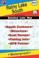 Rainy Lake South Fishing Map Canadian Fishing Map Series Q275 ** For more information, visit image link.