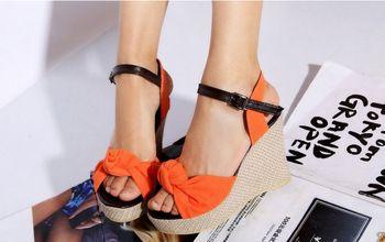 2015 moda dulce pajarita plataforma tacones altos cuñas punta abierta correas del tobillo zapatos de verano sandalias para mujeres tamaño grande 34-42