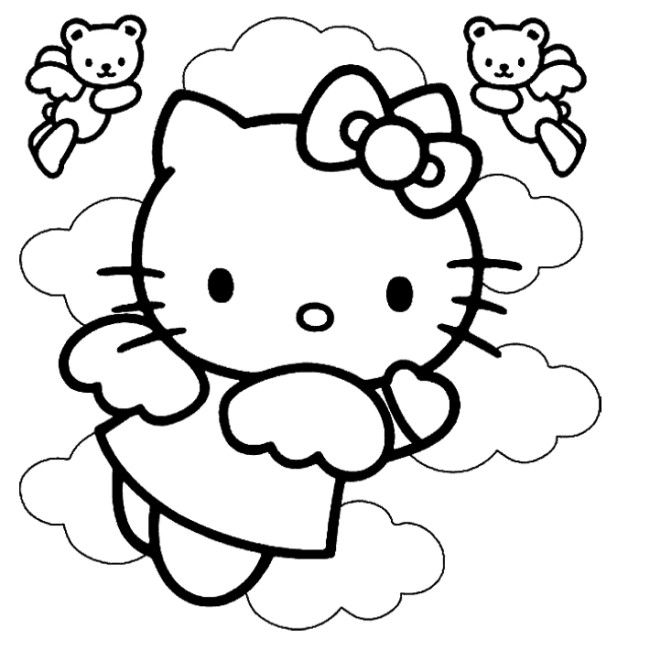 hello kitty coloring pages wallpapers for ipad   98 best pics images on Pinterest   Coloring books ...