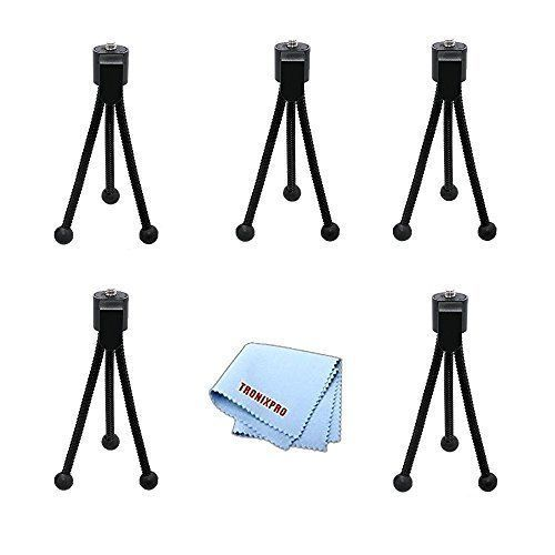 5pc Mini Table-Top Tripods 5 with Flex Legs for Small Digital Cameras  Micro