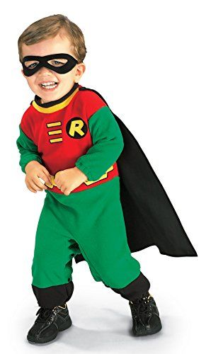 UHC Baby Boy's Dc Comics Robin Superhero Infant Outfit Halloween Costume, 6-12M * Find out more details @