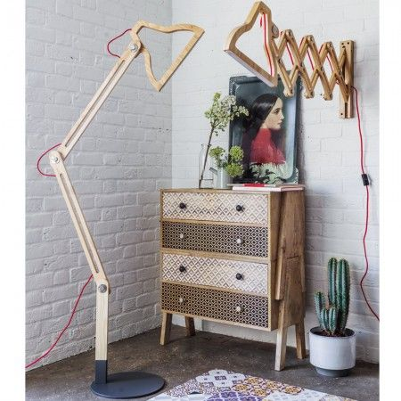 Kelso Wooden Floor & Wall Lamps - Wall Lights & Wall Sconces - Lighting - Lighting & Mirrors