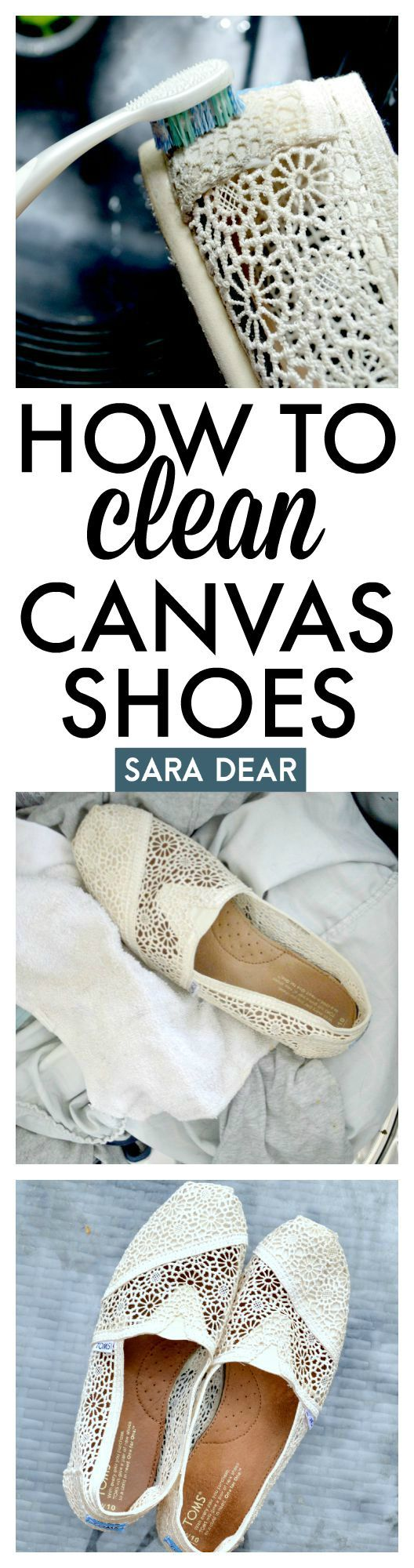How to Clean Your Canvas Shoes — Sara Dear