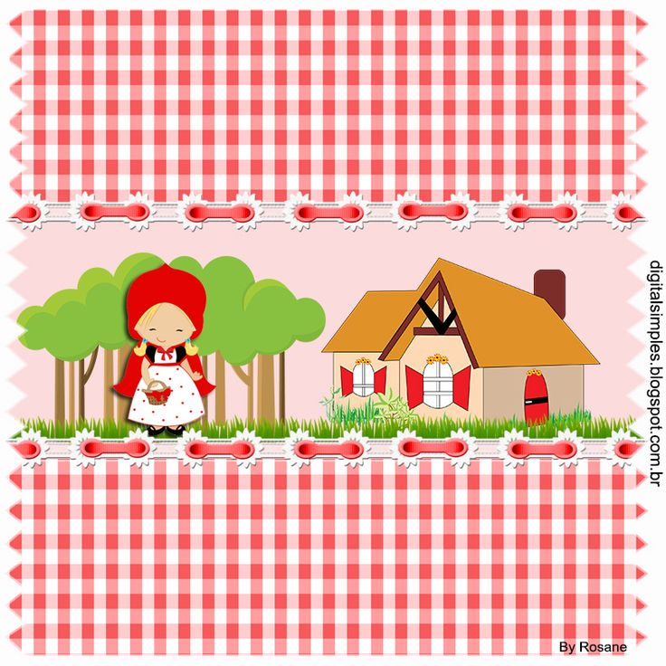 """Convites Digitais Simples: Kit de Personalizados Tema """"Chapeuzinho Vermelho"""" ..."""