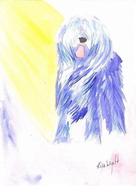 Art: Blue Briard by Artist Kim Wyatt