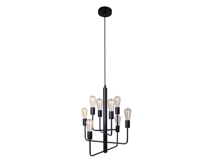 Lancette 8 Light Pendant in Matte Black | Pendant Lights | Lighting