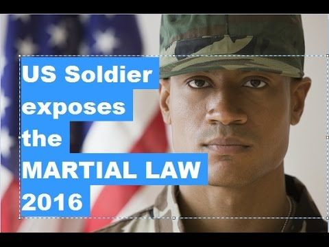 Watch this please! U.S Soldier Exposing the OBAMA'S Martial LAW - New W...Share with all you know very important