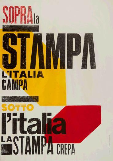 officina tipografica nove punti poster by spaghetti vespa