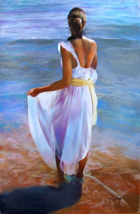 Catawiki Pagina Online De Subastas Domingo Alvarez 1 942 Mujer Mirando Al Mar Mujer De Espaldas Mujer Pintura Dibujo Marinero