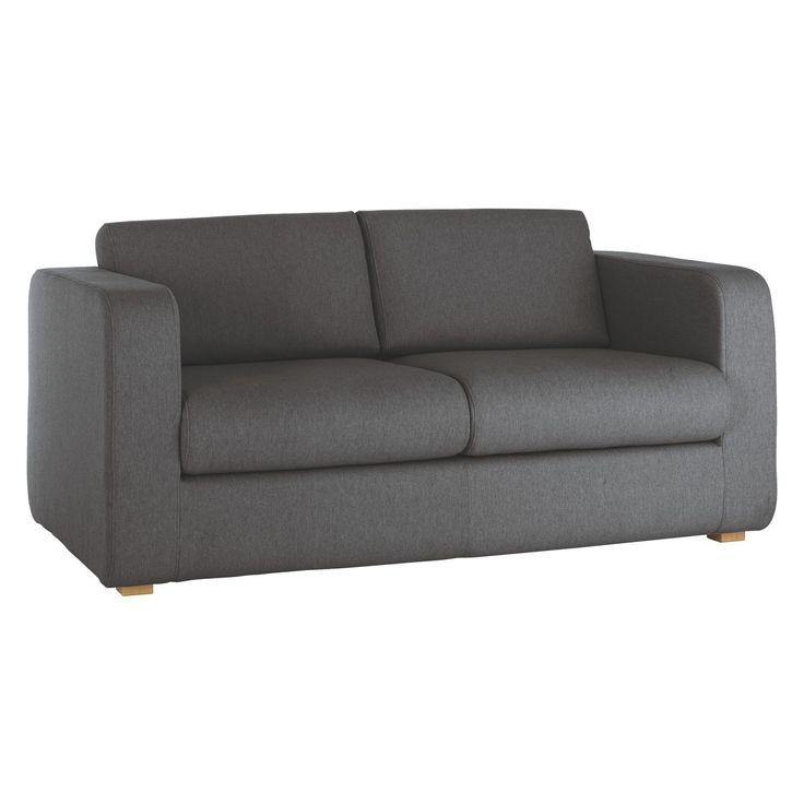 PORTO Charcoal fabric 2 seater sofa bed