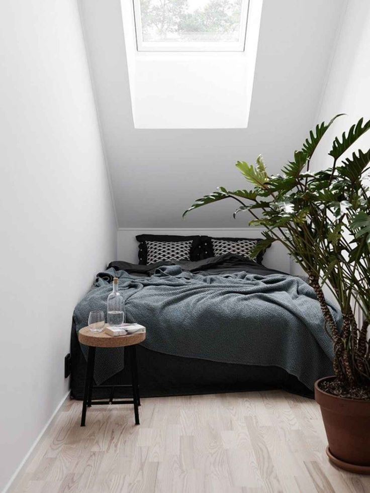 Small cozy minimal bedroom