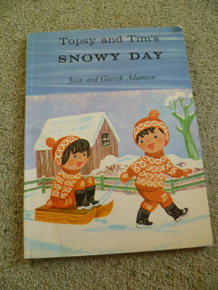 Topsy and Tim's Snowy Day Large Book Blackie Vintage 1970 | eBay