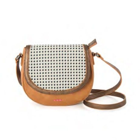 Een tikkeltje retro schoudertasje van Skunkfunk in bruin lederlook met verstelbare schouderband. ✓ Voor 21.00 uur besteld, morgen in huis.