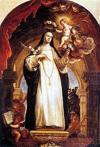 Isabel Flores de Oliva, O.P. más conocida como Santa Rosa de Lima. Mística terciaria dominica canonizada por el papa Clemente X en 1671. Fue la primera santa de América, excelsa Patrona de Lima, el Perú (desde 1669), del Nuevo Mundo y Filipinas (desde 1670). Además, es Patrona de institutos policiales y armados: Policía Nacional de la República del Perú y de las Fuerzas Armadas de Argentina. Nació en Lima, Virreinato de Perú, 30 de abril de 1586,y murió el 24 de agosto de 1617.