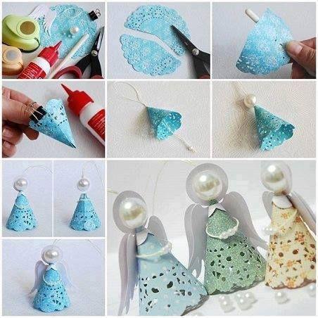 Ngeles navide os de carpetas de papel ideas para el for Ideas para el hogar