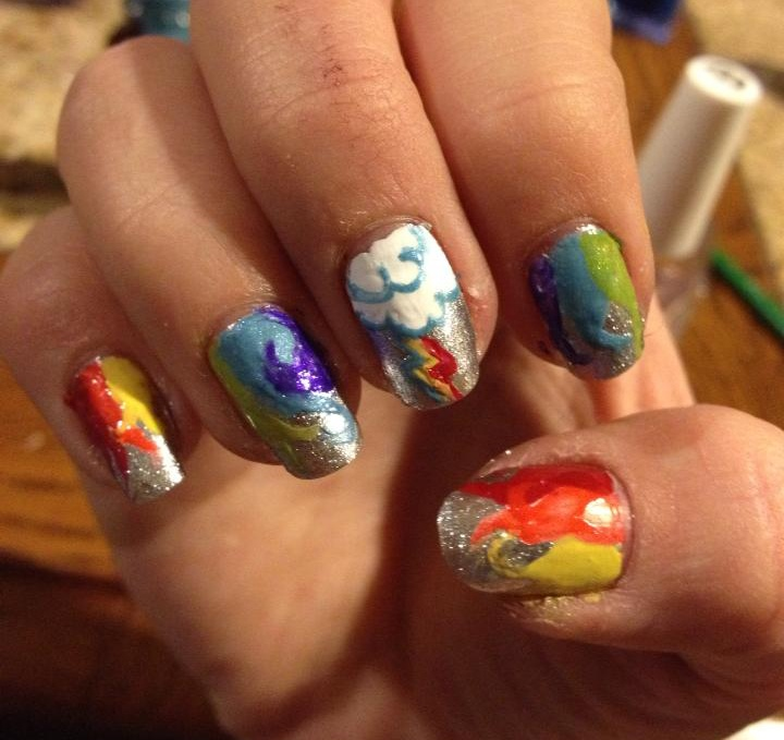Nail Art Rainbow Dash from My Little Pony   Cool nail