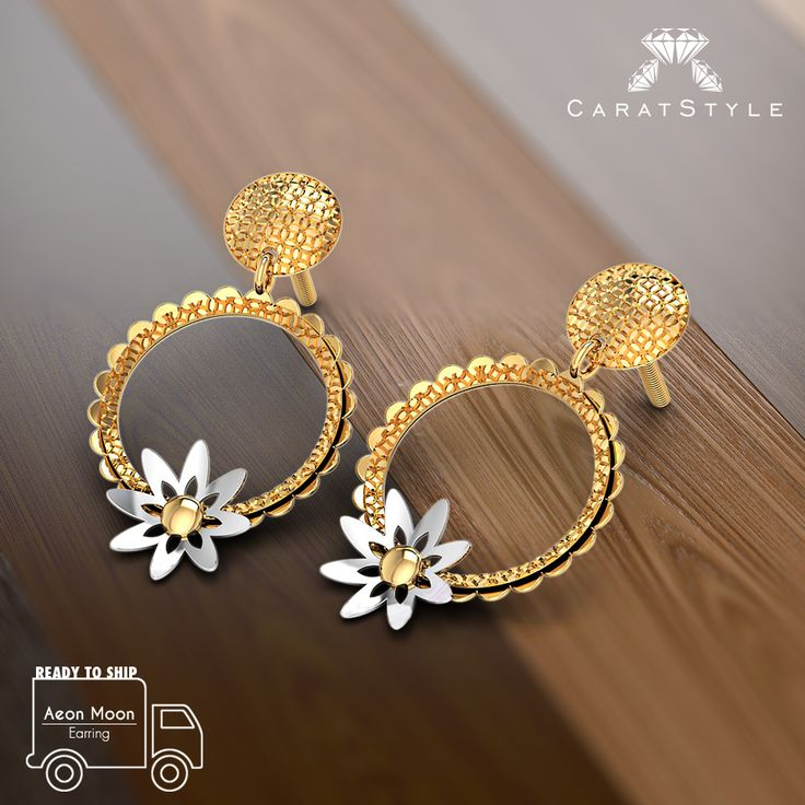 Ssshh, Womans day coming soon. We suggest pre-ordering this golden sunshine. #earrings #readytoship #jewelry #lifestyle #online #shopping #india #caratstyle
