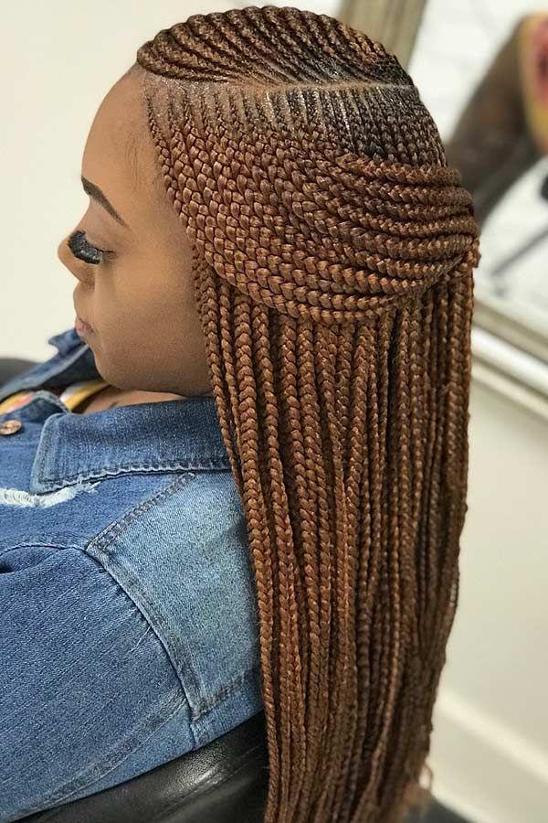25 Cool Ways To Wear 2 Layer Braids This Season Stayglam Feed In Braids Hairstyles Braids For Black Hair African Hair Braiding Styles
