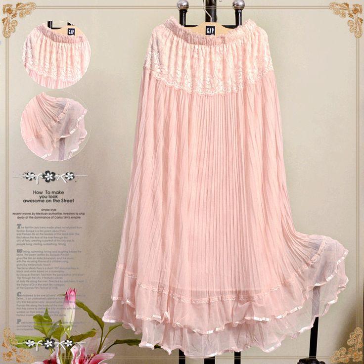 Hot Summer Long Design Lace Skirt Tulle Skirts Gauze Expansion Skirt Elegant Beach Women Maxi Skirts Saia