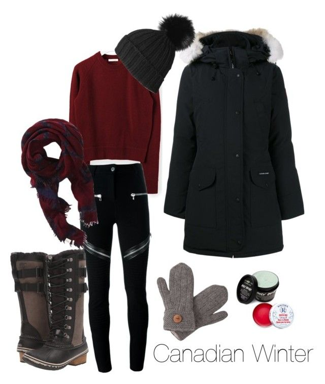"""""""Winter"""" by maria-raniela on Polyvore featuring Chloé, Canada Goose, Givenchy, SOREL, Black, Wilfred, Laundromat and Smith's"""