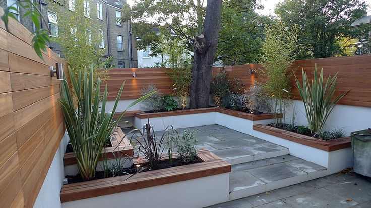 modern courtyard bench - Google Search