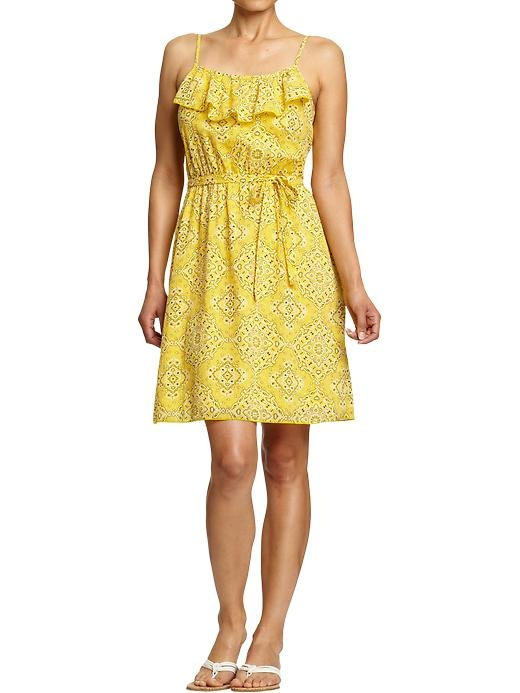 Old Navy ruffle dress ~ Perfect for a pear (d) shape figure